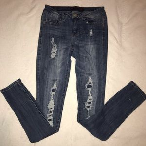 2 for $14 : distressed skinny jeans